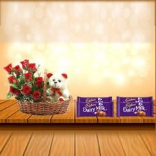 10 Roses Bouquet Combo