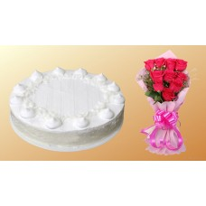 Coconut Cheese Cake with rose combo