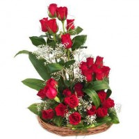 Double love Cute Rose Basket