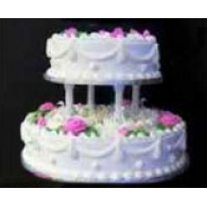 2 Tier Round Shape 4 kg Vanilla Cake from Captain's world