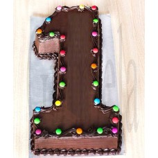 Number Chocolate Cake From Cooper's Bangladesh(1Kg)
