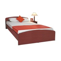 Double bed with mahogany wood