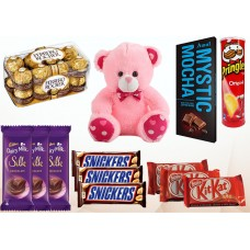 Chocolates &Teddy Bear Combo