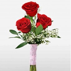 3 Red Roses Love