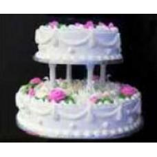 2 Tier Round Shape 4 kg Vanilla Cake from Captain's world