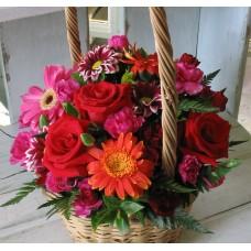 Attractive Mixed Flower Basket