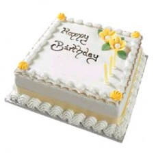 1 KG Square Shape Cake- Purbani